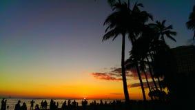 Hawaiischer Sonnenuntergang Stockfotos