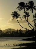 Hawaiischer Sonnenuntergang Lizenzfreie Stockfotos