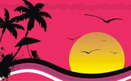 Hawaiischer tropischer Strandrahmen background6 Stockfotografie
