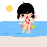 Hawaiisches Hula Mädchen Lizenzfreies Stockbild