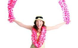 Hawaiisches Mädchen Lizenzfreies Stockfoto