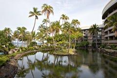 Hawaiisches Rücksortierung-Hotel stockbild