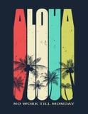 Hawaje, Aloha wektorowa ilustracja ilustracji
