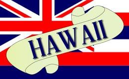 Hawaje flaga ślimacznica ilustracji