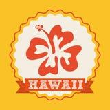 Hawaje kwiatu projekt Obrazy Royalty Free