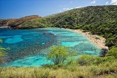 Hawaje Oahu hanauma zatoki widok Zdjęcie Royalty Free