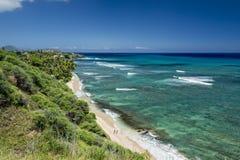 Hawaje Oahu hanauma zatoki widok Zdjęcie Stock