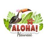 Hawaje pieprzojada wiadomość aloha ilustracji