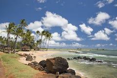 Hawaje Poipu plaży krajobraz obraz stock
