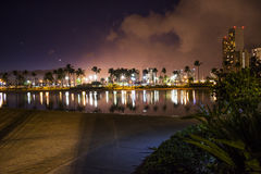 Hawaje przy nocą Fotografia Stock