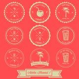Hawaje rocznika etykietki Wakacyjny projekt Obrazy Royalty Free