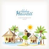 Hawaje tła panorama royalty ilustracja