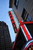 Hawaje Theatre Neonowy Zdjęcie Royalty Free