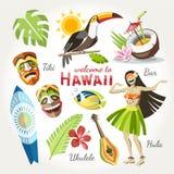 Hawaje wektoru kolekcja ilustracji