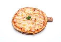 Hawajska pizza na białym tle Obraz Royalty Free