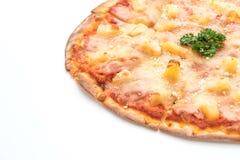Hawajska pizza na białym tle Fotografia Royalty Free