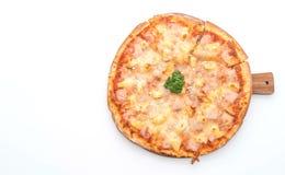 Hawajska pizza na białym tle Obrazy Royalty Free