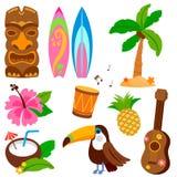 Hawajska wektorowa ilustracyjna kolekcja Obrazy Royalty Free