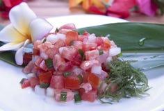 Hawajski jedzenie (lomilomi łosoś) Obraz Royalty Free