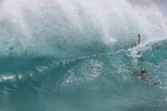 Hawajski lata ciała surfingu fala backwash Zdjęcia Royalty Free