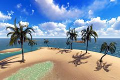 Hawajski raj Zdjęcia Stock