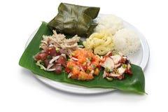 Hawajski tradycyjny półkowy lunch Obrazy Stock