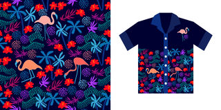 Hawajskiej koszula projekt Zdjęcia Stock