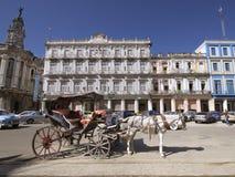 HAWAŃSKI, KUBA, OCT - 20, 2011: Historyczny Hotelowy Inglaterra zakłada Obrazy Royalty Free