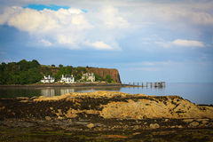 Hawcraig pir, Aberdour scotland Royaltyfri Foto