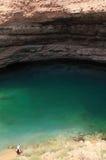 Hawiyat Najm Sinkhole, Oman Stock Images