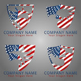 Hawk America Guard Logo Concept Royalty Free Stock Image