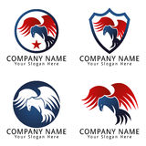 Hawk Fly Concept Logo Royalty Free Stock Photo