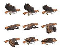 Hawk Flying Sprite stock illustrationer