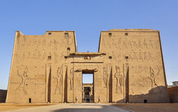 The hawk God Temple in Egypt. The sun hawk God Temple in Egypt Royalty Free Stock Photography