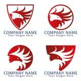 Hawk Guard Vector Mascot Stockbilder