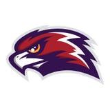 Hawk Head Mascot Vector Logo stock illustrationer