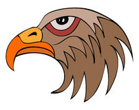 Hawk Head sur le fond blanc Illustration Stock