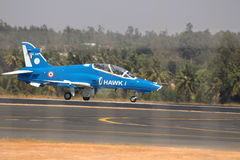 Hawk-i at Aero India 2017. HAL flies upgraded Hawk-i at Aero India 2017.nHindustan Aeronautics Limited HAL, public sector defence aerospace major, which stock photos