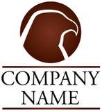 Hawk Logo. Brown circular Hawk logo for active company Stock Photography