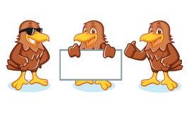 Hawk Mascot Vector happy Stock Image