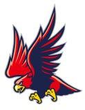 Hawk mascot Stock Image