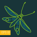 Hawk-moth insect outline  Royalty Free Stock Photography
