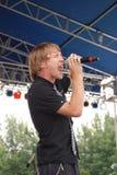 Hawk Nelson que se realiza en el festival del pulso del mundo Imágenes de archivo libres de regalías