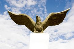 Hawk  sculpture Royalty Free Stock Images