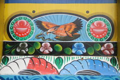 Hawk and snake. Truck paintingis a popular form of indigenous art inAfghanistan,Pakistan,India, and otherSouth Asiancountries, featuring floral Stock Images
