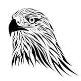 Hawk, tattoo. Abstract hawk in the form of a tattoo Stock Photo