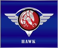 Hawk, Eagle, Falcon. stock illustration