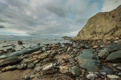 Hawke's Bay. New Zealand. South Waimarama beach in Hawke's Bay, North Island, New Zealand - one of popular tourist destinations Stock Image