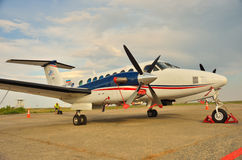 Hawker Beechcraft in the parking lot Stock Photo