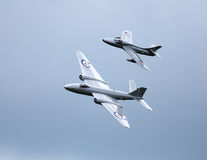 Hawker hunter and Canberra PR9 jets Stock Photos